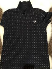 BOYS DESIGNER FRED PERRY GENUINE NAVY FITTED POLO TOP SHIRT AGE 10 12 YRS YM