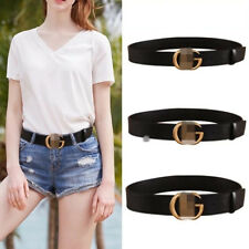 UNISEX Reversible Genuine Leather Thin Belts GG For Jeans Belt For Women's Pants