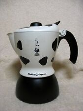 Bialetti Mukka Express 2 Cup Cow Print Cappuccino Espresso Maker Made in Italy