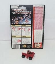 Swerve  WITH CARDBACK Vintage Hasbro 1986 G1 Transformers Action Figure