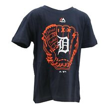 Detroit Tigers Official MLB Majestic Apparel Youth Kids Size T-Shirt New Tags