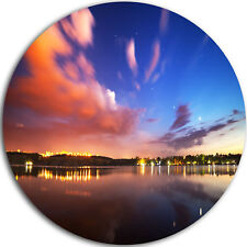 Design Art 'Delighted Reflection in River' Photographic Print on Metal