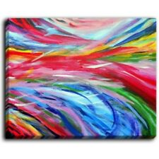 'Rainbow Cyclone' by Jackie Phillips Painting Print on Wrapped Canvas