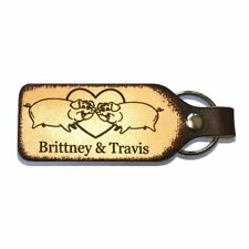 For the Love of Pigs Couples Leather Keychain with Free Customization