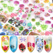 Holographic Flower Nail Foil Decal DIY Nail Art Transfer Sticker Decor HOT!