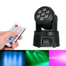 AC100-240V 105W 7LED RGBW Stage Light with Remote Control  Sound Activated O9C0