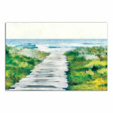 Highland Dunes 'Beach Path Coastal Landscape' Acrylic Painting Print on Canvas