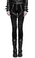 Black pants woman with harness and pics, gothic rock Punk rave k Punk rave