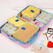 6Pcs Luggage Packing Organizers Travel Tidy Bags Cosmetic Makeup Storage Pouch