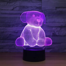Bear 3D Acrylic LED 7 Color Night Light Touch Table Desk Sleeping Lamp for Kid