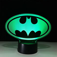 Batman 3D Acrylic LED 7 Colour Night Light Touch Table Lamp Room Decor Toy