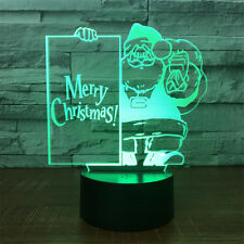 Santa Claus 3D illusion Visual Night Light 7 Colors Change LED Desk Lamp Bedroom