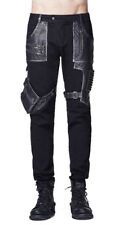 Black pants man steampnuk with zips and pockets Punk Rave Punk Rave