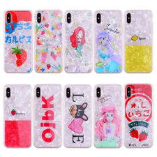Cartoon Mermaid Shell Soft TPU Full Cover Phone Case For iPhone 6 6s 7 8 Plus X