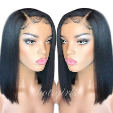 Brazilian Bob Short Wig Human Hair Lace Front Wigs Pre Plucked Hairline Straight