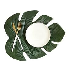 Kitchen Placemat Leaves Pvc Dining Table Mat Disc Pads Bowl Pad Coasters Waterpr
