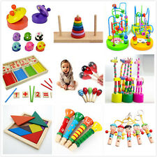 Wooden Toy Gift Baby Kids Intellectual Developmental Educational Early Learn Jh