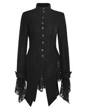 Coat black lace length pigtails gothic romantic pun Punk Rave