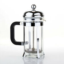 1pc New Portable Stainless Steel French Press Coffee Maker Tea Pot Plunger Glass