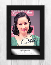 Dita Von Teese 1 A4 reproduction signed photograph poster Choice of frame