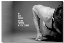Poster Bodybuilding Men Girl Fitness Workout Quotes Motivational Font Print 08