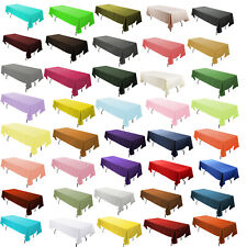 Multiple sizes Rectangular Poly Tablecloth For Event Decoration Party Wedding