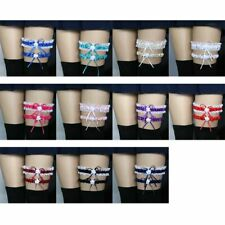 2Pc Bowknot Lace Garter Sexy Bridal Wedding Leg Garter Cosplay Butterfly Garters
