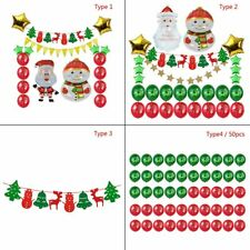 Christmas Fabric Felt Hanging Buntings Garland Banner String Party Decor New