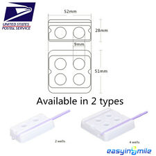 Easyinsmile Dental Disposable Mixing Wells White 2-Well 200 Pcs or 4-Well 100Pcs