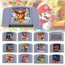 N64 Game mario party 123 kart 64  Video Game Cartridge Console Card USA version