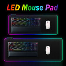 🔥 Extended RGB Colorful LED Lighting Gaming Keypad Mouse Pad Mat for PC  !