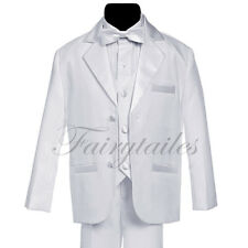 GINO Boy White Usher Tuxedo Suit Size From Baby to Teen