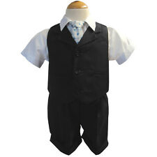 New Baby and Toddler Boy Summer Suit Charcoal Short Set