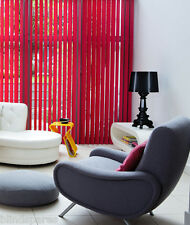 New Vertical Blind/s Slats RED, ORANGE, YELLOW, PURPLE