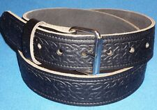 Celtic Belt Black Hand Made Real Leather Made in England xl