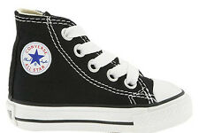 Converse Chuck Taylor All Star Hi Black Wht Infant Toddler Boy Girl Size 2- 10