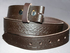 Celtic Belt Hand Made Brown Leather Made in England