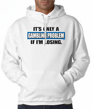 Gambling Problem Funny 50/50 Pullover Hoodie