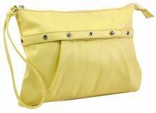 NWT $34.95 Faux Leather Medium Wristlet ~ 4 colors ~