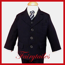 Boy Navy Blue Formal Dress Suit Choice Of Many Sizes