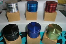 Pro Aluminium 50mm - 4Part  Herb Grinder   SIX Colours