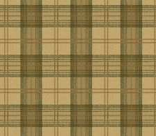 Khaki Classic Plaid Prepasted Wallpaper Wall Covering Clearance Pricing