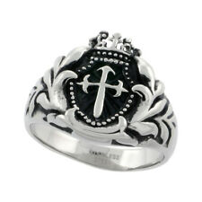 Stainless Steel ST.JAMES CROSS Ring   sz 9-15     #rss106