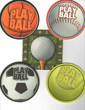 8 absorbent drink coasters play ball motif