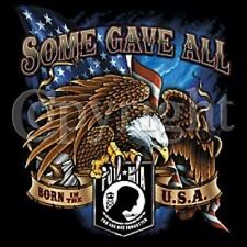 POW MIA SOME GAVE ALL POCKET TEE T SHIRT BIKER