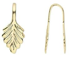 10 OR 100 Gold or Silver Plated Pendant Fold Over Leaf Bails   *Glue on