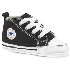 CONVERSE CRIB FIRST ALL STAR BABY NEW BORN SHOES 8J231 BLACK/ WHITE SIZE 1- 4