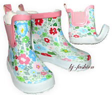 NEU flexible Baby Gummistiefel in Weiß ~FLOWER~ Gr.Wahl