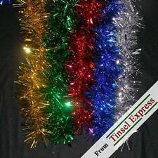 Deluxe Tinsel Garland - 15' Shiny VTG Xmas Decoration *