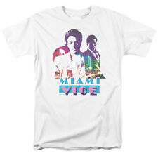 Licensed NBC Miami Vice Crockett & Tubbs Adult Shirt S-3XL